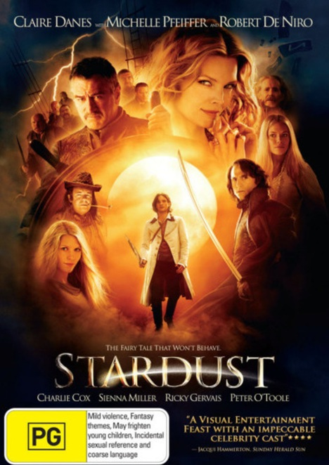 stardust, neil gaiman, magic, movies about magic, fairy tale, dvds for children