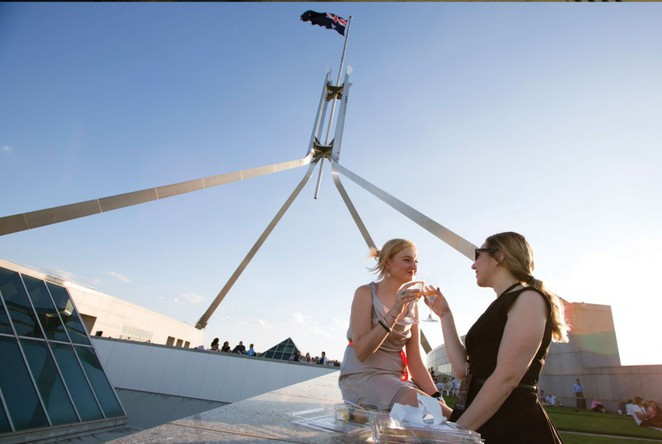 sunset on the roof, enlighten, canberra, 2017, things to do, canberra, ACT,