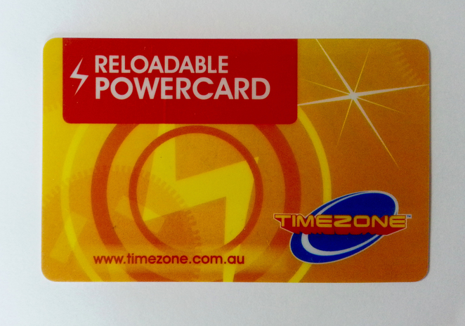 Timezone card, game card, Timezone, Laser Tag,