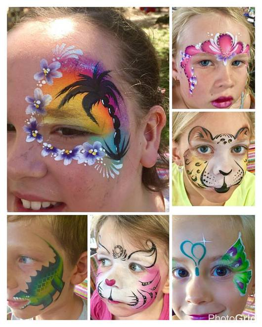 Top Three Face Painters, Sunshine Coast, Suzy The Face Painter, birthday parties, corporate events, charity events, become a face painter, two day course, Coast Face Painting by Bryony, product launches, family fun days, playgroup Christmas parties, weddings, engagement parties, store openings, festivals, Spritely Designs, art classes, fairy parties, prenatal belly art, Hens Nights, Baby Showers