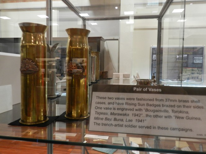trench art, war, WWI, WWII, army, museum, Townsville, Jezzine, Queensland