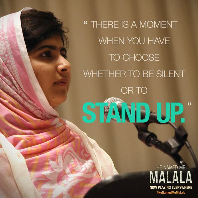 He Named Me Malala is a documentary on the life of Malala Yousafzai.