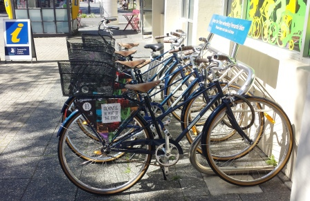 Free bikes at the Fremantle Visitor Centre