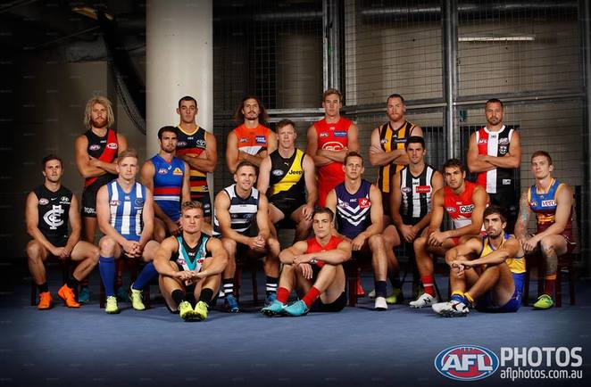 2018 AFL SUNDAY FUNDAY ETIHAD STADIUM KIDS CAPTAINS