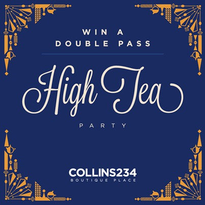 234collins free, comp, high tea tickets, win