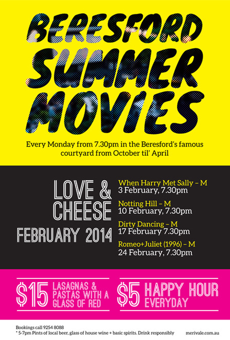 beresford outdoor movies, outdoor movies sydney, summer outdoor movies.