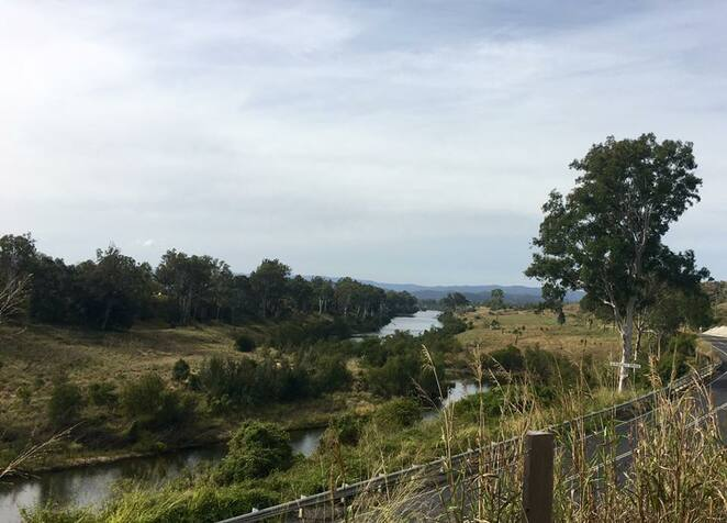 View of the Brisbane River while cycling from Lowood back to Fernvale