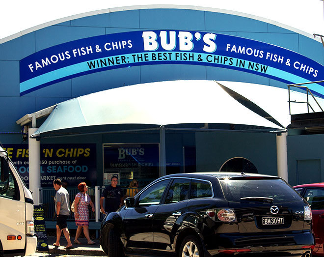 Bud's Seafood Nelson Bay.