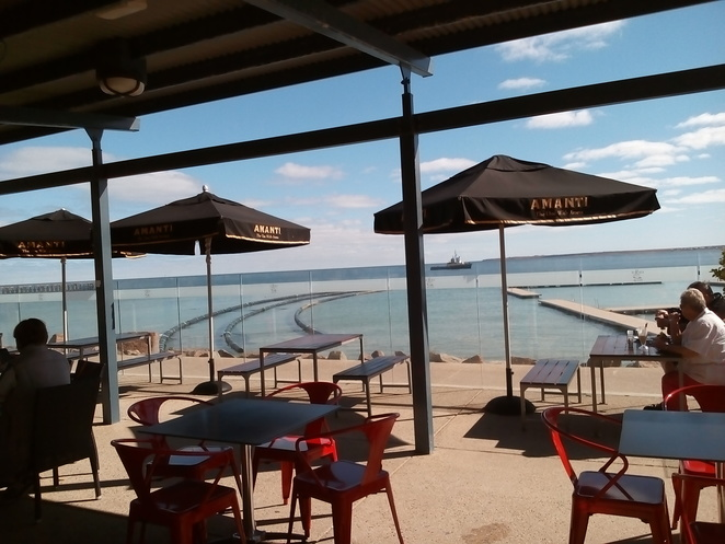 Cafe Mia, Wallaroo, seaviews, bayside, Wallaroo Bay, Spencer Gulf, South Australia, Cafes, Food, Coffee, ocean views