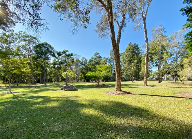 Expansive lawns shaded by known koala trees are set across the parklands at Cascade Gardens