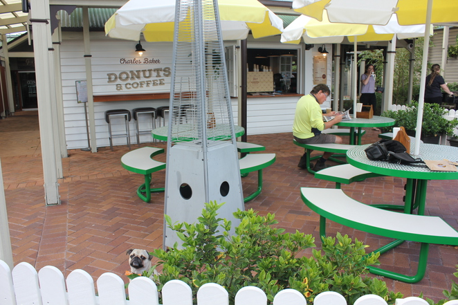 charles baker donuts and coffee, the glen, hotel, motel, accommodation, dog friendly, cafe, dessert, eight mile plains, south side, southern suburbs, brisbane, coffee, breakfast, restaurant, dog parking
