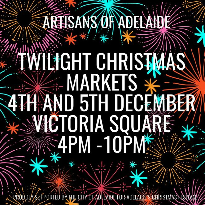 Christmas twilight market, covid safe, European Christmas market, jewellery, art, skin care, beeswax wraps, candles, vintage clothing, giant Christmas tree, tarntanyangga, food trucks, live entertainment