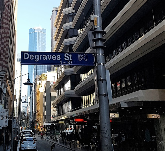 Degraves St, Melbourne, walking tour