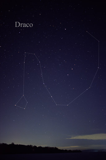 The Constellation Draco the Dragon (photo courtesy of Till Credner at Wikimedia)