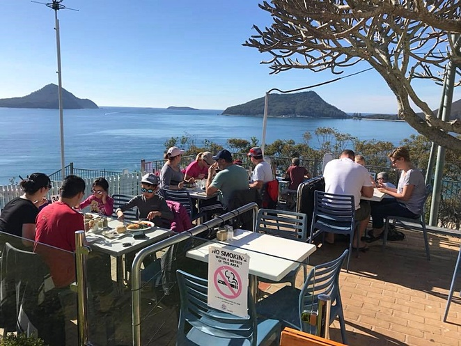 inner light tea rooms, nelson bay, port stephens, cafes, restaurants, views, places to go, lunch, breakfast, water views,