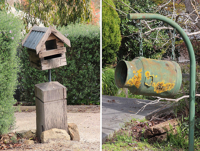 mail boxes.