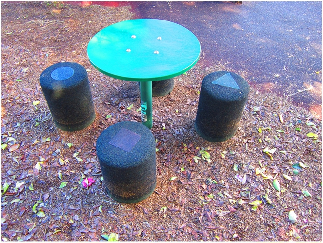 Merrett Playground, Waverton Peninsula, Waverton Station, waverton Park, Sydney playground, Table and stools,