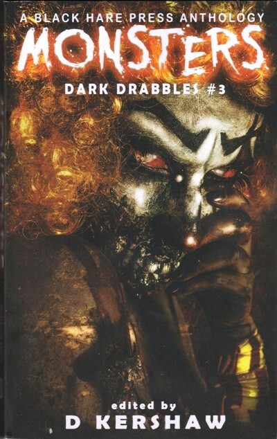 monsters, drabble, black hare press, review, cover, anthology