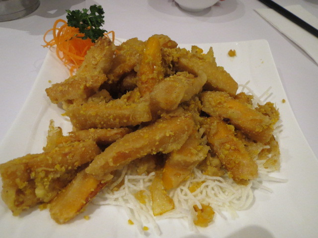 New Oriental Pearl Restaurant, Fried Pumpkin in Salted Egg Yolk, Adelaide