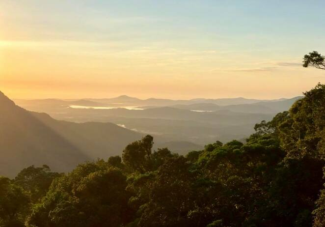 Sunrise from the visitor centre in Dorrigo National Park