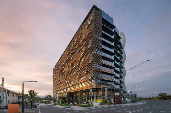 nishi building, newacton, canberra, ACT, architecture, hotel hotel, monster bar, max brenner, palace cinema,