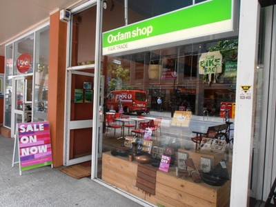 The Oxfam shop on Hay Street in Perth.