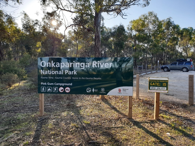 Pink Gum Campground entrance