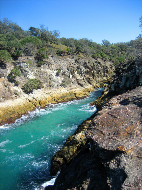 One of the gorges on North Stradbroke Island