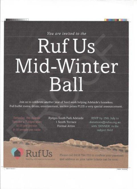RuFus, Mid-Winter Ball, blankets, warmth, clothing, Black Tie Event, Charity, Homeless, Support Homeless