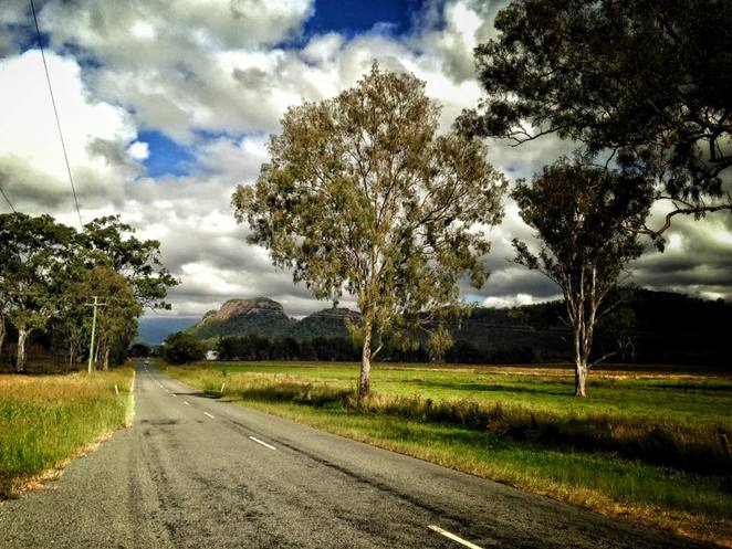 scenic route, scenic drive, Boonah, Killarney, mountains, scenery