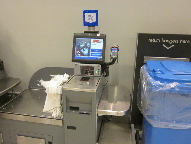 Self-service checkout terminal