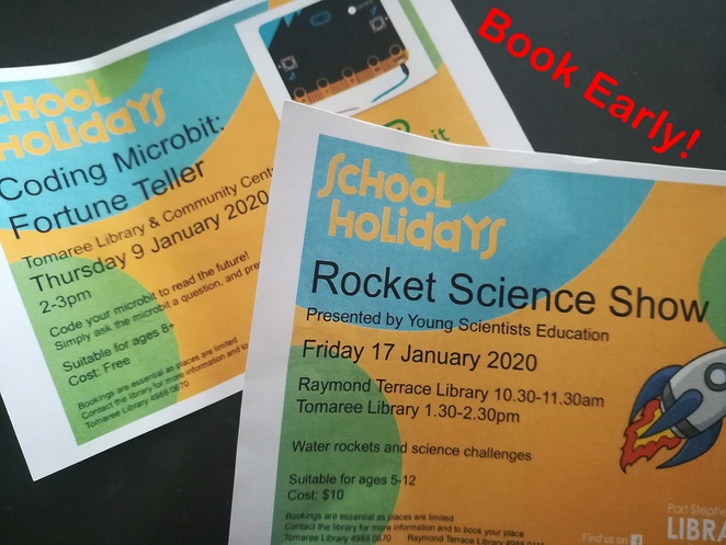 tomaree library, school holidays, january, 2020, summer, whats on, things to do, indoors, library, coding, salamander bay, science shows, kids, children,
