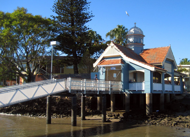 The Bulimba Heritage trail starts at the historical Bulimba Ferry Terminal