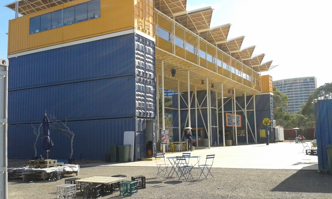 Westside Acton park stage 1, Canberra, pop up village, shipping container village