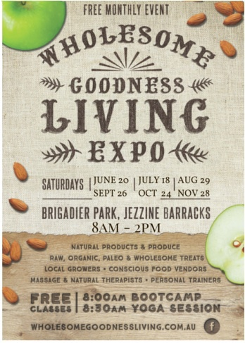 Wholesome Goodness Living Expo, Townsville Markets, yoga Townsville, Jezzine Barracks Markets, healthy eating, townsville workshops