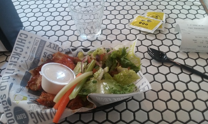 Wings and Salad