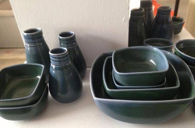 Ceramics on display at the Studio
