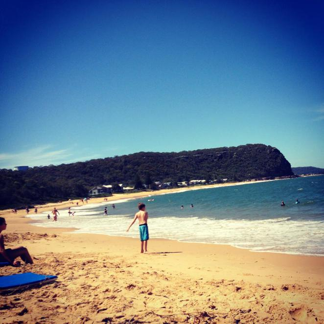 beach, pearl beach, central coast, summer, ocean, sea, relax