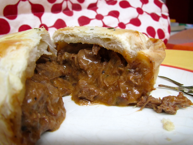 Braised beef and onion pie, ben the butcher, home-made