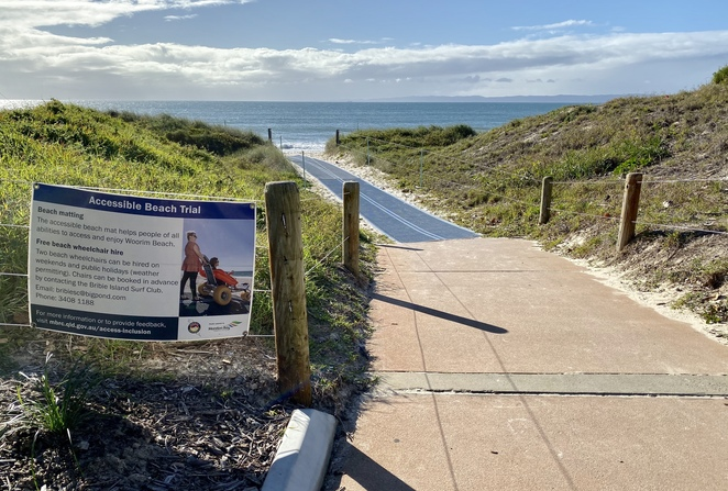 This fantastic initiative makes Woorim Beach accessible to everyone from Bluey Piva Park