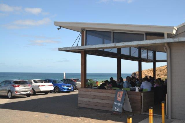 The Boatshed Cafe has a lovely indoor-outdoor area