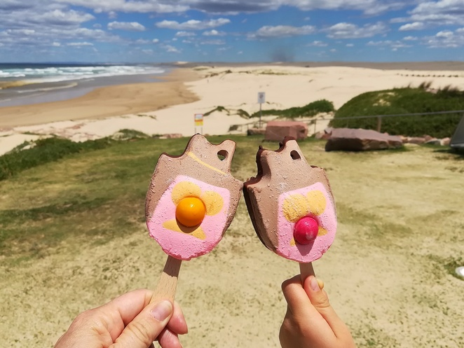 bubble o bill, ice creams, anna bay, birubi beach, crest cafe, the kiosk, best places to get an ice-cream, nelson bay, anna bay, shoal bay, little beach, port stephens, NSW, views, beaches, takeaway shops,