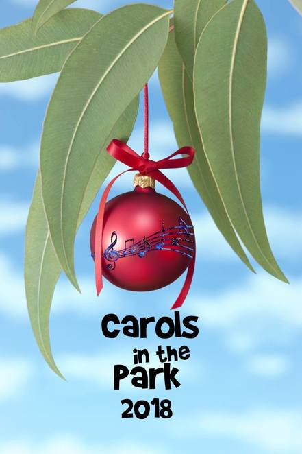 carols in the park mount barker 2018, community event, fun things to do, christmas event, santa clause, christmas carols, community event, fun things to do, tradition, keith stephenson park, local artists, carols big band, family fun, kids entertainment, kids activities, face painting, food and drink stalls, springlake fireworks