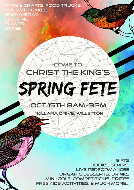 christ the king spring fete, things to do in october, spring fete, church events,