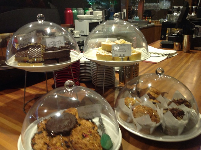 Display unit Desserts cakes barramundi bar and Grill