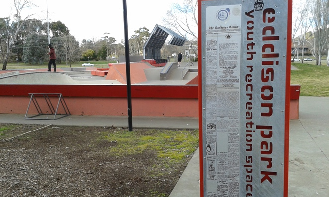 Eddison Skate Park, Woden, Canberra, school holidays, teenagers activities