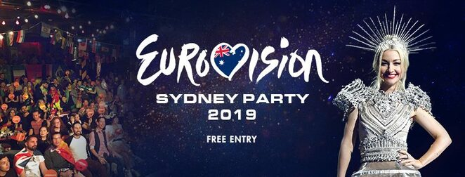 eurovision sydney party 2019, community event, fun things to do, music competition, musicians, vocalist, oxford art factory, diy rainbow, kate miller-heidke, free event, best fancy dress competition, spangliest camtastic eurovision party, southern hemisphere, james breko, sbs broadcast, disco ball trophy
