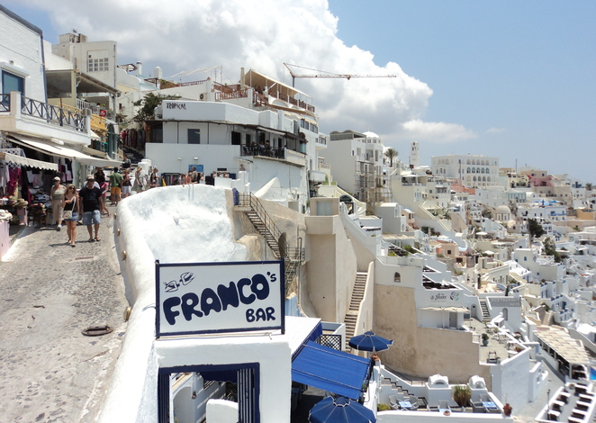 Hollywood stars celebrities shop in Fira Santorini