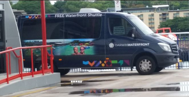 free shuttle bus at Darwin Waterfront, Darwin Waterfront Precint, Darwin, free, shuttle bus