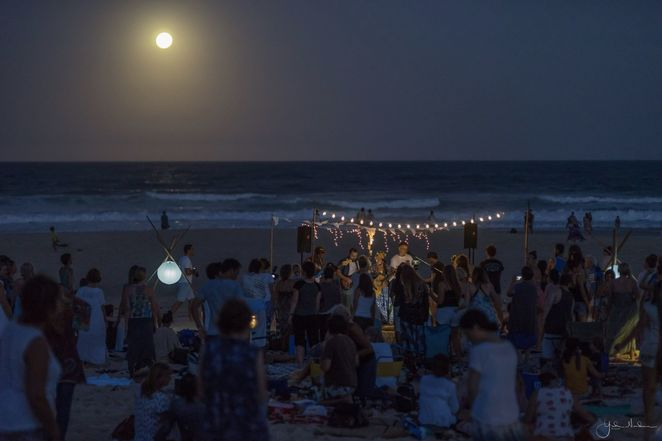 full moon beach kirtan gold coast